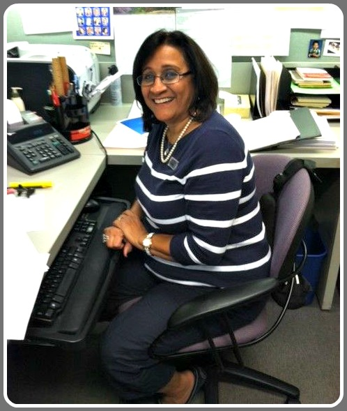 Wafaa Naggar, at work in the Westport Library.