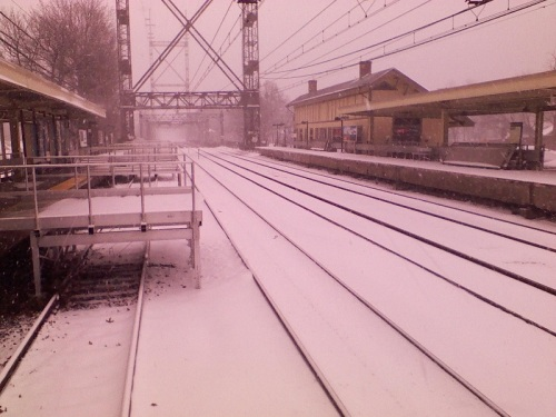 "No word from Metro-North on whether (weather?) there was ""Good Service"" today. (Photo/Fred Cantor)"