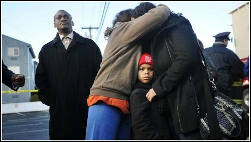 The aftermath of the Bridgeport condominium fire. (Photo/Brian Pounds, AP)