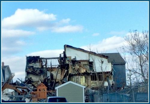 Nothing is left of the condominium on Charles Street, Bridgeport. (Photo/Sal Gilbertie)