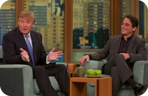 Donald Trump and Tony Danza. (Photo/JP Vellotti)