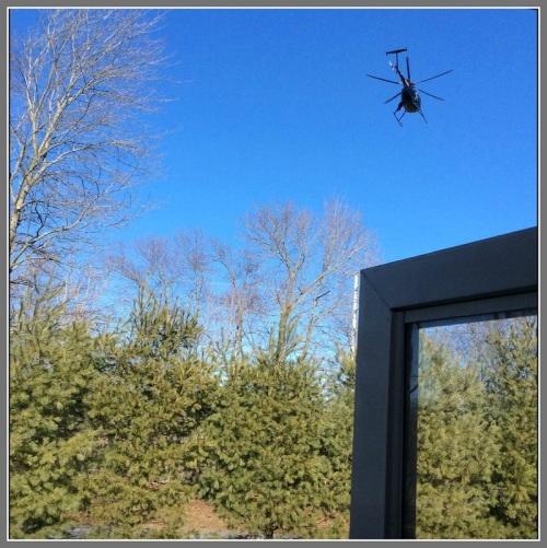 Helicopter over Westport