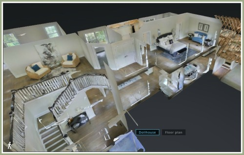 "The 3D technology also offers a ""dollhouse"" view inside a home."