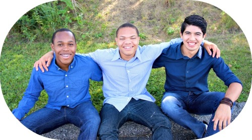 ABC House seniors (from left) Adrian Blevitt, Thomas Jones and Christopher Morales.