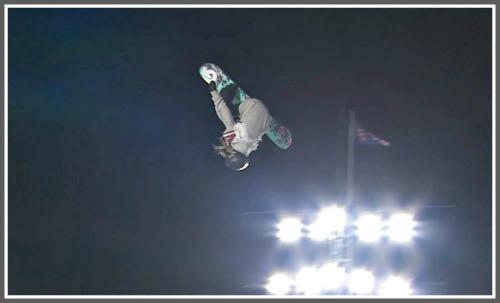 Julia Marino soars high above Fenway Park.