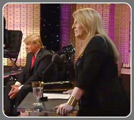 Lisa Lampanelli, roasting Donald Trump.