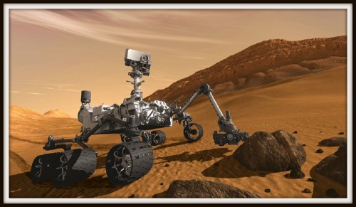 The Mars Curiosity Rover in action. Jim Garvin played a key role in its development adn deployment.