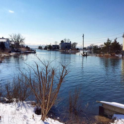 Saugatuck Shores flooding 1 - Feb 9 2016 - Betsy P Kahn