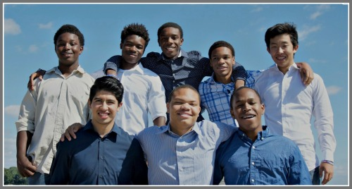 Christopher Morales (front row, far left) and the rest of the A Better Chance of Westport scholars.