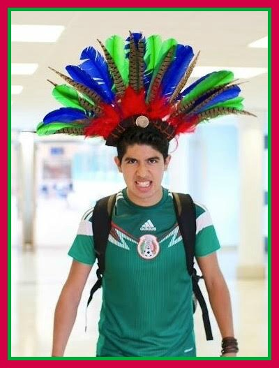 Christopher Morales rocks his Mexican heritage, in the halls of Staples High School.