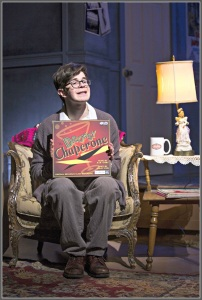 "Aaron Samuels -- the ""Man in Chair"" -- is a central character in ""The Drowsy Chaperone."" (Photo/Kerry Long)"