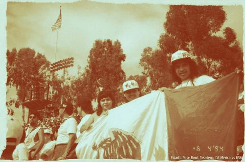 In their early years in Los Angeles, the Morales family joined friends at the Rose Bowl, for a US-Mexico soccer match.