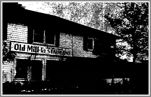 Leo Williams' Old Mill Restaurant, in 1954. The screened-in porch can be seen on the right. (Photo/Bridgeport Post)