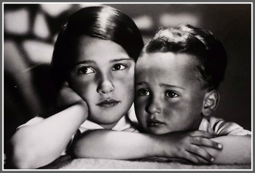 Anita Pollak, age 8, and her brother Michael, 3.