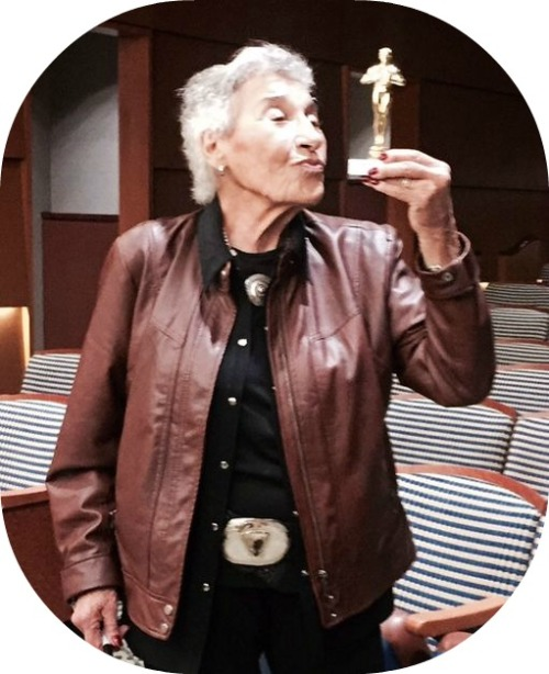 Anita Schorr persevered, and told her story with power. But she had a sense of humor too. After being presented with a small gift after one speaking engagement, she held it up as if it were an Oscar.