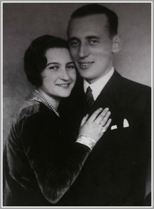 Anita Schorr's parents, Stella and Fritz, on their wedding day.