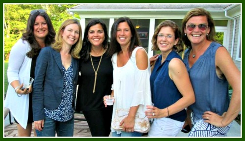 AWARE women, at a fundraiser for Mercy Learning Center. From left: Deb Parnes, Kim Perlen, Amy Saperstein, Erica Davis, Johanna Kiev and Jennifer Seymour.