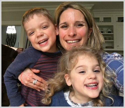 Carrie Cromwell-Hunt and her kids today.
