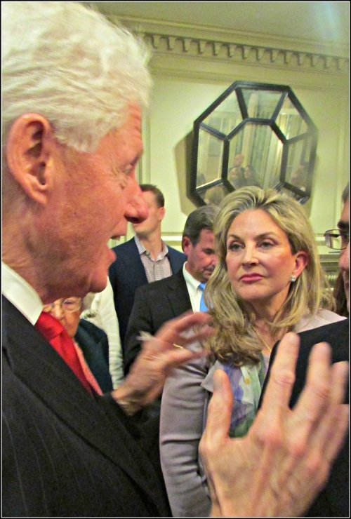 President Clinton with RTM member Kristan Peters-Hamlin. She is a descendant of Abraham Lincoln's first vice president, Hannibal Hamlin.