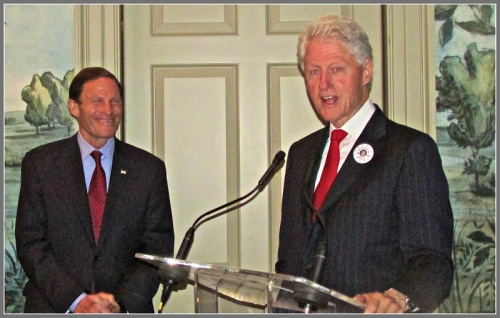 President Clinton and Senator Richard Blumenthal have been friends for many years.