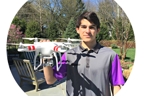 Dylan Horowitz, with his drone.