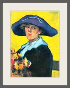 Hilla von Rebay: a self-portrait.