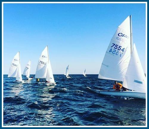 Staples sailors, off Cedar Point Yacht Club.