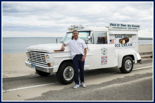 Wall Street Journal, 2016: Tom Topalian and his Good Humor Truck. (Photo/Jesse Neider for Wall Street Journal)