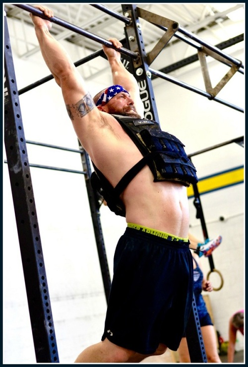 Local trainer Andrew Berman of Mental Grit Fitness gives it his all.