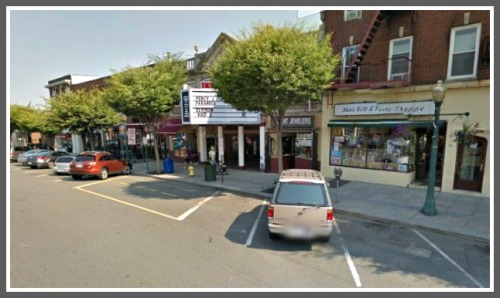 Angled parking in downtown Mamaroneck, New York.