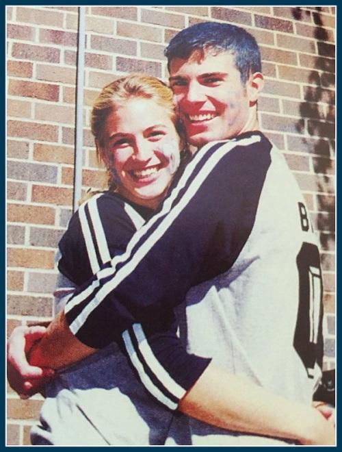 Evan Tschirhart and Pam McDade. (Photo/Staples High School 2000 yearbook)