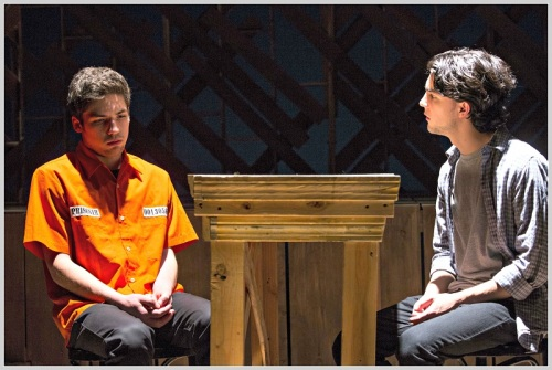 Charlie Zuckerman and Nick Ribolla. Each actor in the ensemble plays several roles. (Photo/Kerry Long)