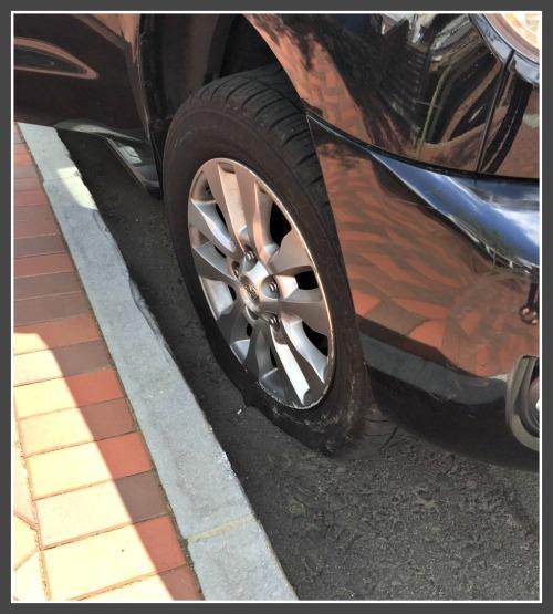 Debbie Katz's tire.