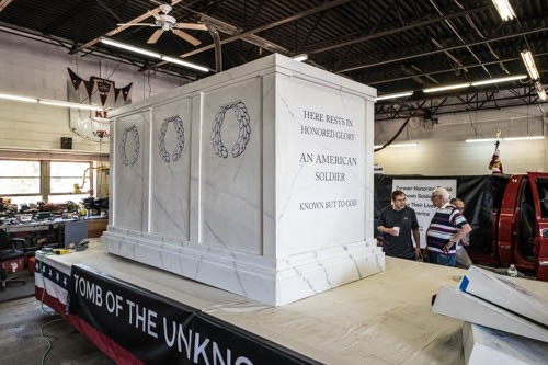 "The Y's Men usually win the float competition. This year's theme was ""Tomb of the Unknowns."" (Photo/courtesy of John Brandt)"