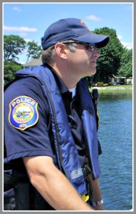 Sgt. Robert Myer, on marine patrol.