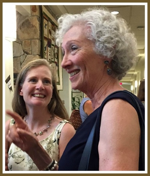 Barbara Butler (right) shares memories with RTM moderator Eileen Flug.