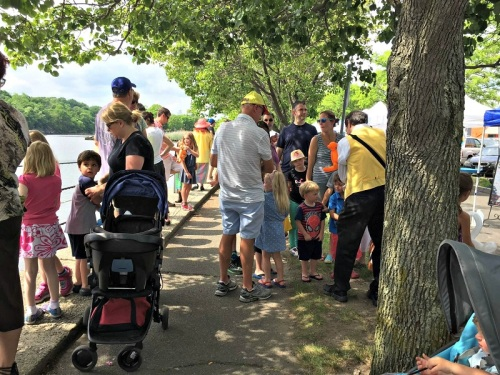 Crowds gathered at Parker Harding Plaza to enjoy plenty of duck-related activities.