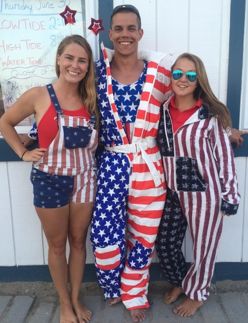 It's not Independence Day unless you wear red, white and blue.