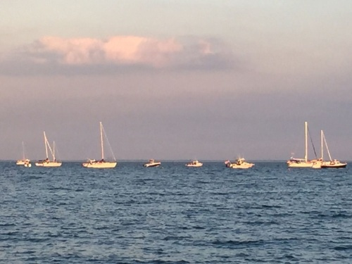 Boats were out in force, all afternoon and evening.