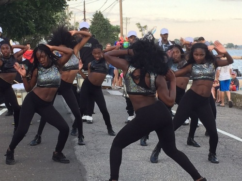 """New York City's Cobras put on a great dance and drum performance. They appeared in the movie """"Birdman."""""""