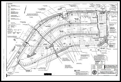 The new parking lot #1 plan. Sorry -- this is the only size I could find!