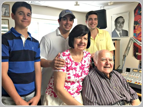 Trevor, Kyle and Ryan Baer with their grandparents, Ed and Pearl Baer.
