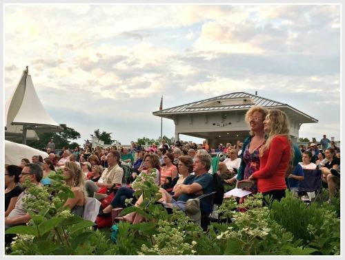 Part of the large Levitt Pavilion crowd.