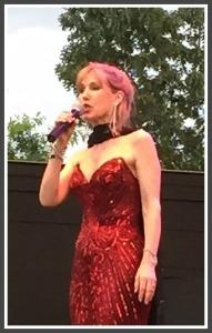 Dodie Pettit, on the Levitt Pavilion stage.