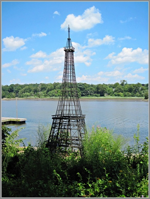 """Kelly Spearen's """"Eiffel Tower"""" now sits on a private residence, along the Saugatuck River."""