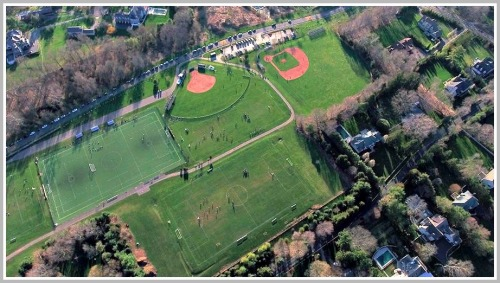 Wakeman athletic fields - Pogue drone