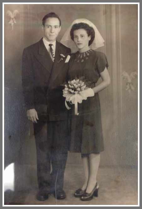 Bob and Jean Satter on their wedding day. He was 22 years old; she was 20.