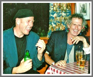 Charlie Karp shares a laugh with Keith Richards. (Photo/Ray Flanigan)
