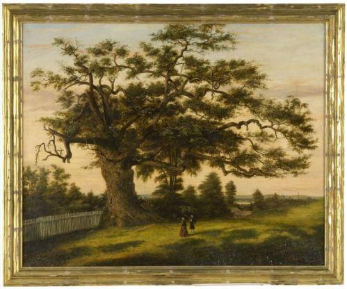 Connecticut's charter oak.