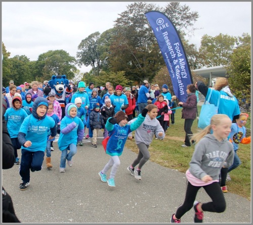 Participants run at FARE's 2015 walk.